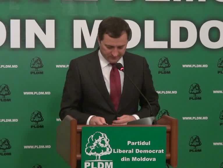 Briefing susţinut de Vlad Filat, preşedintele PLDM
