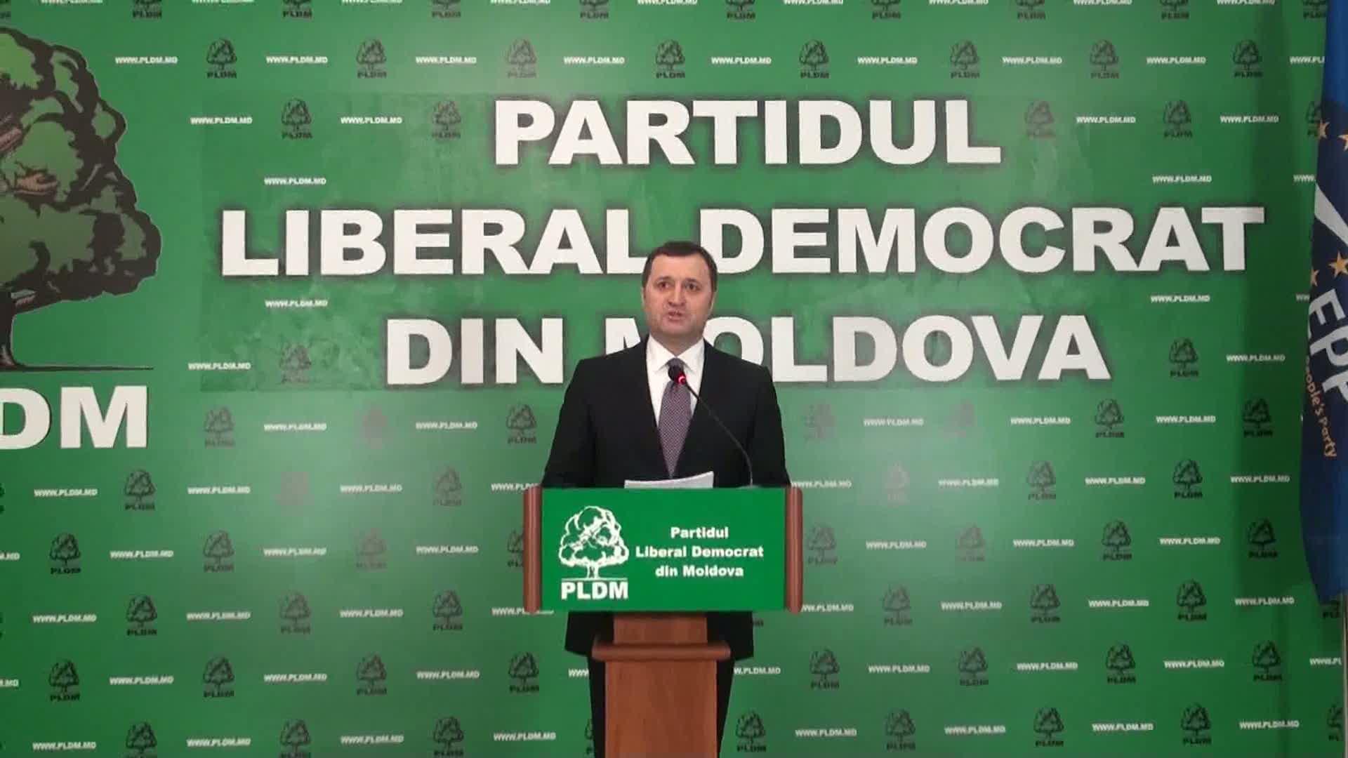 Briefing susținut de președintele PLDM, Vlad Filat