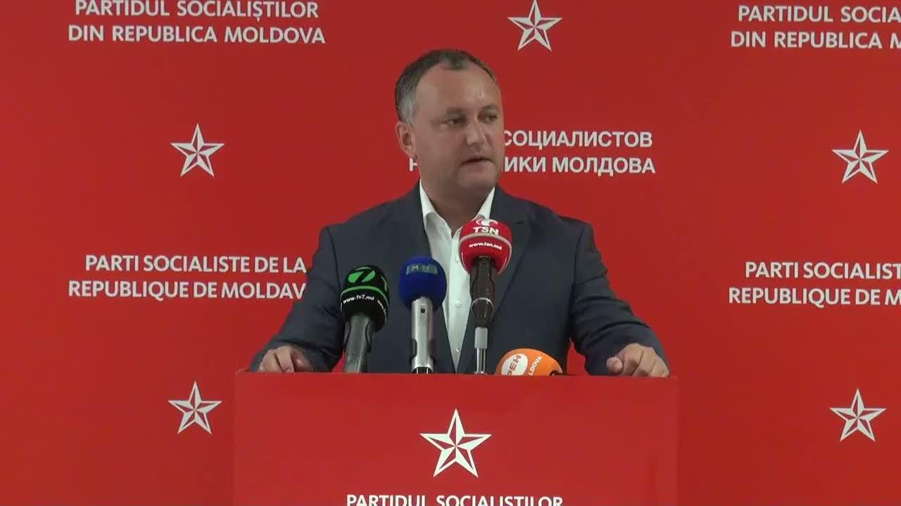 Conferinţă de presă susţinută de liderul PSRM, Igor Dodon, 7 august, 10.00
