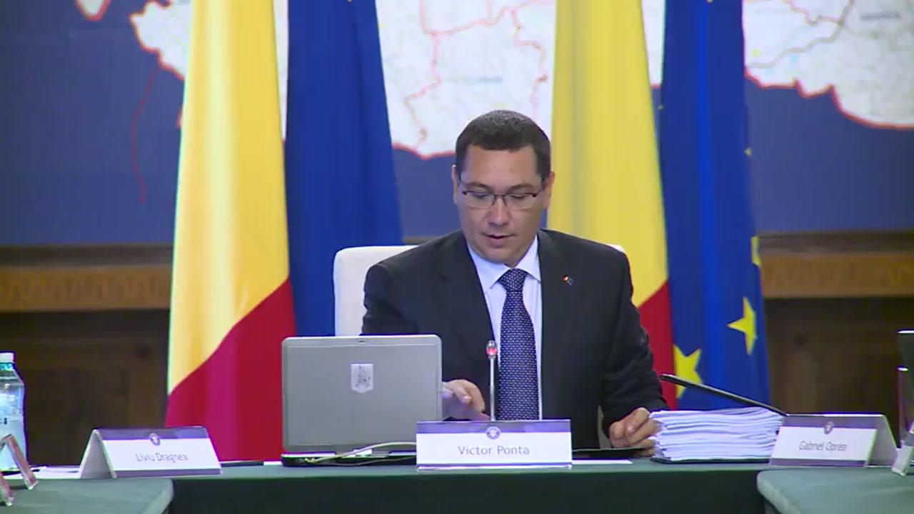 Ședința Guvernului României din 19 august 2014 (imagini protocolare)