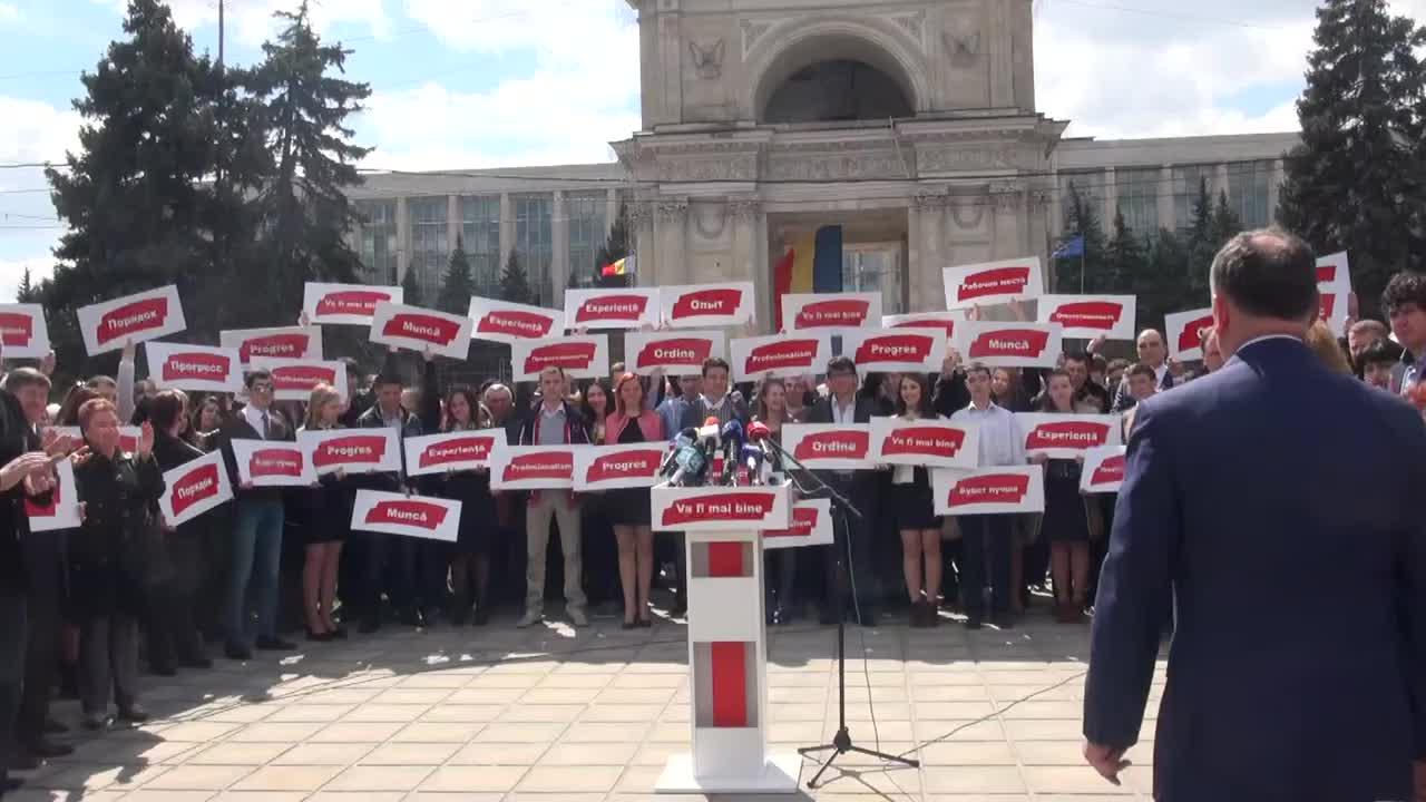 Anuntarea candidaturii la functia de Primar General al mun. Chisinau din partea Partidului Socialistilor din Republica Moldova, 14.00