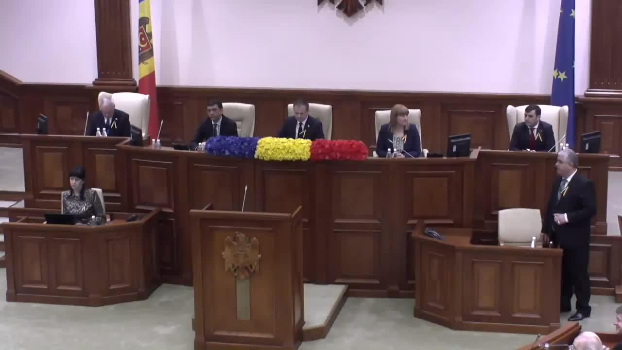 Sedinta Parlamentului consacrată celebrării a 25 de ani de la desemnarea oficială a tricolorului în calitate de Drapel de Stat al Republicii Moldova, 10.00