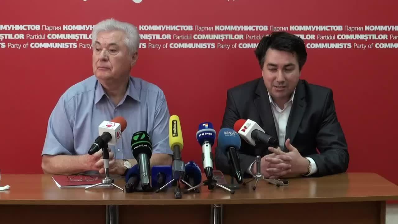 Conferinta de presa sustinuta de presedintele Partidului Comunistilor din Republica Moldova, Vladimir Voronin, ora 11.00