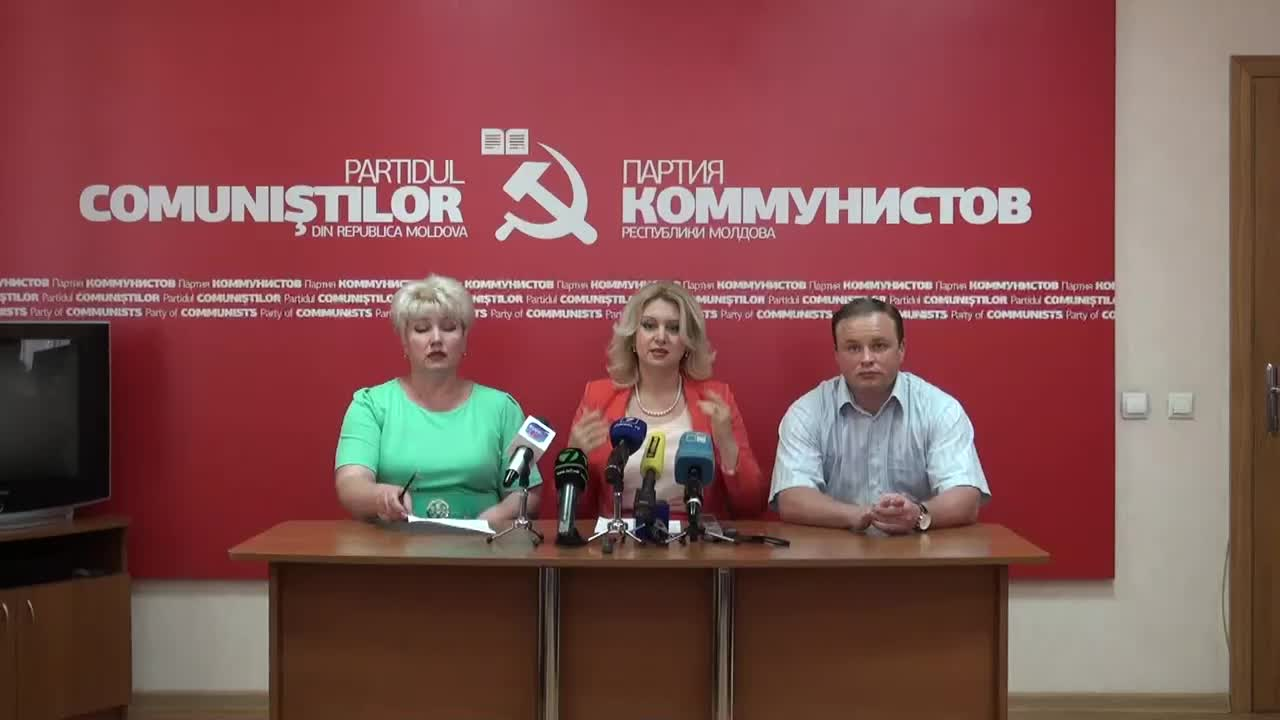 Briefing sustinut de reprezentantii Partidului Comunistilor din Republica Moldova, 15.00