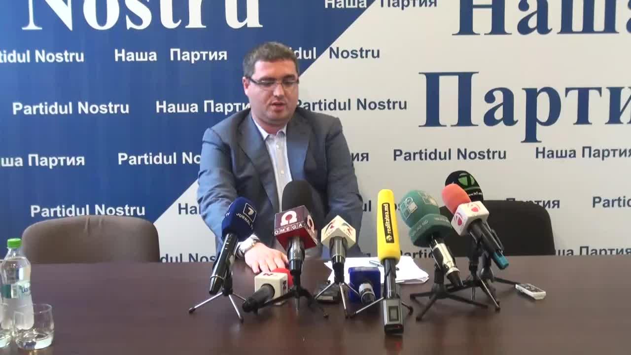 Conferinta de presa sustinuta de liderul Partidului Nostru, Renato Usatii, invingator la Balti, privind rezultatele alegerilor locale din 14 iunie 2015