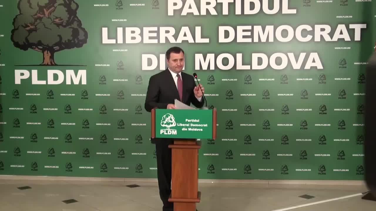 Briefing sustinut de presedintele PLDM, Vlad Filat, privind rezultatul alegerilor locale