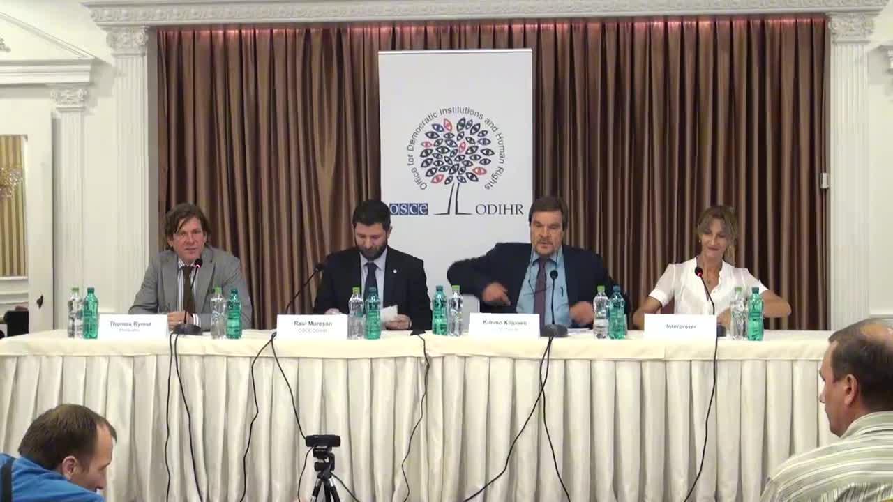 Alegeri Locale 2015: Conferinta de presa sustinuta de observatorii internationali acreditati de Biroul OSCE privind desfasurarea turului doi al alegerilor locale