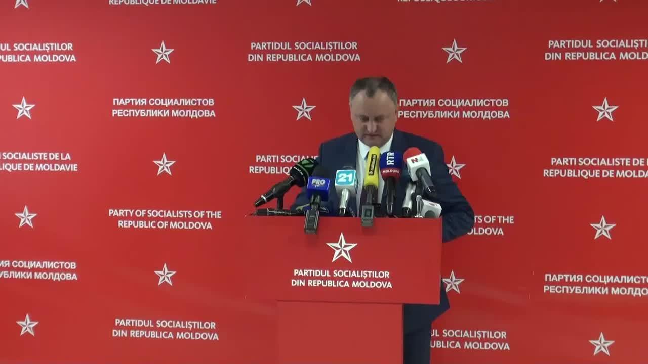 Conferinta de presa sustinuta de presedintele PSRM, Igor Dodon, privind rezultatele turului al doilea al alegerilor locale generale, ora 13.30