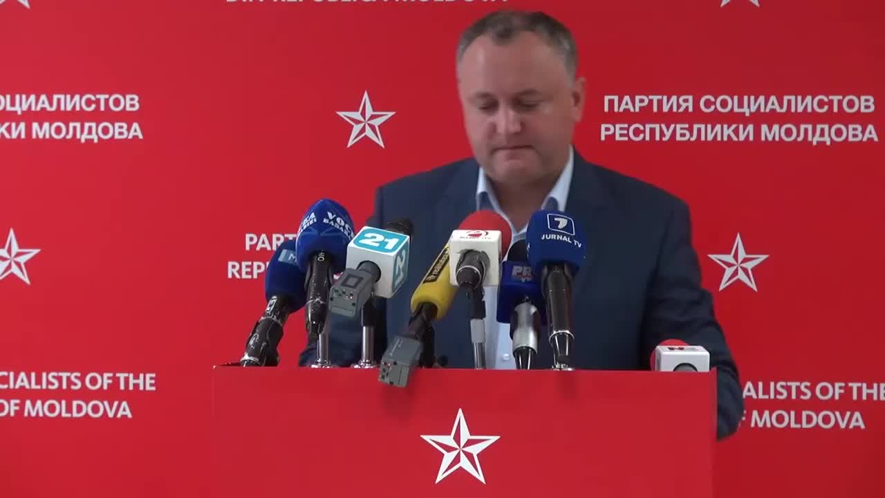 Conferinta de presa sustinuta de presedintele PSRM, Igor Dodon, ora 11.00