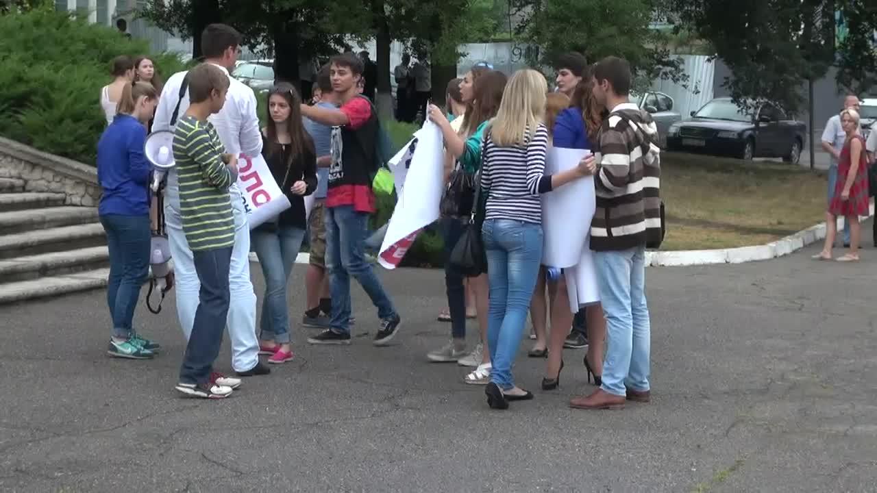 """Actiune de protest organizata de PSRM in sustinerea angajatilor Întreprinderii de Stat """"Calea Ferata din Moldova"""""""