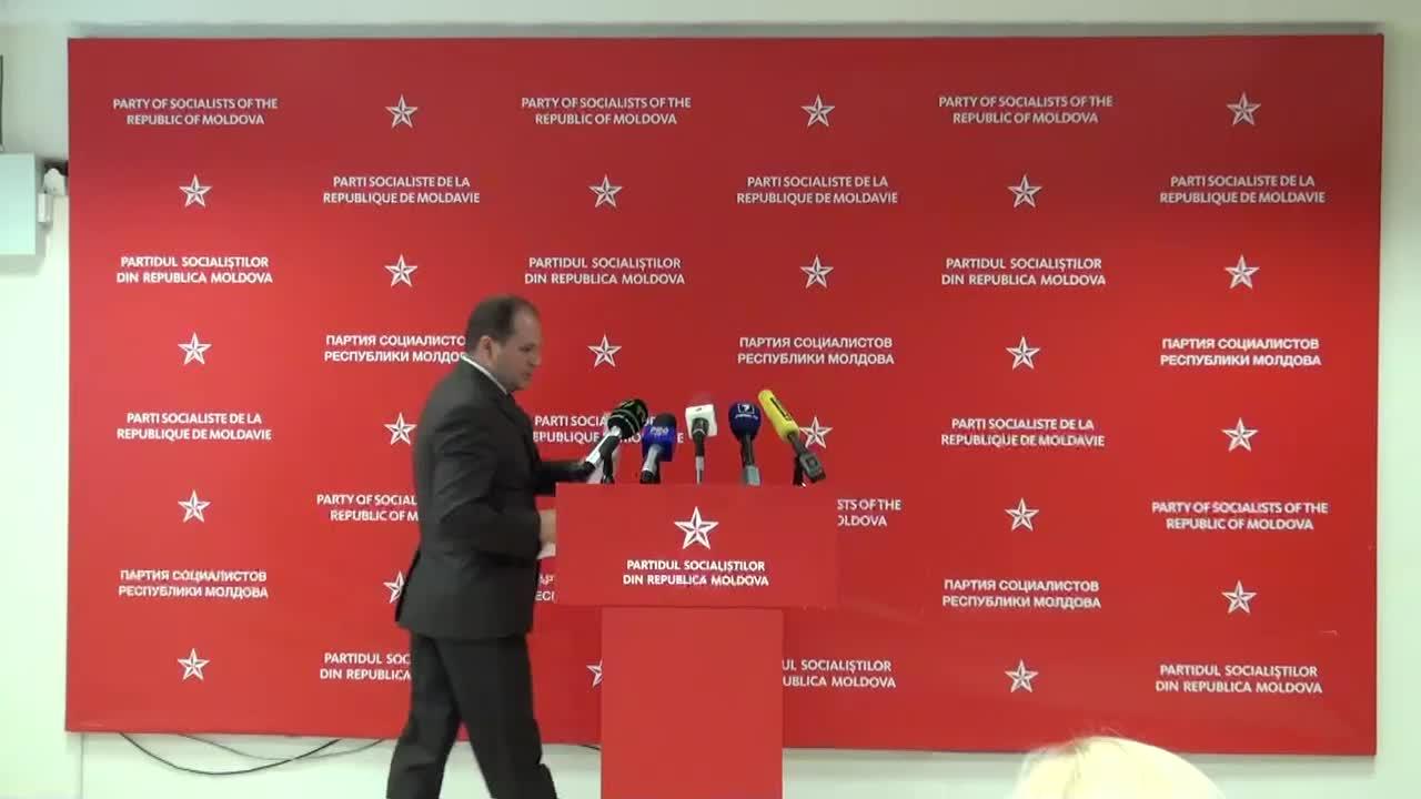 """Conferintă de presă sustinută de presedintele fractiunii PSRM în CMC, Ion Ceban, cu tema """"Convocarea sedintei ordinare a CMC"""""""