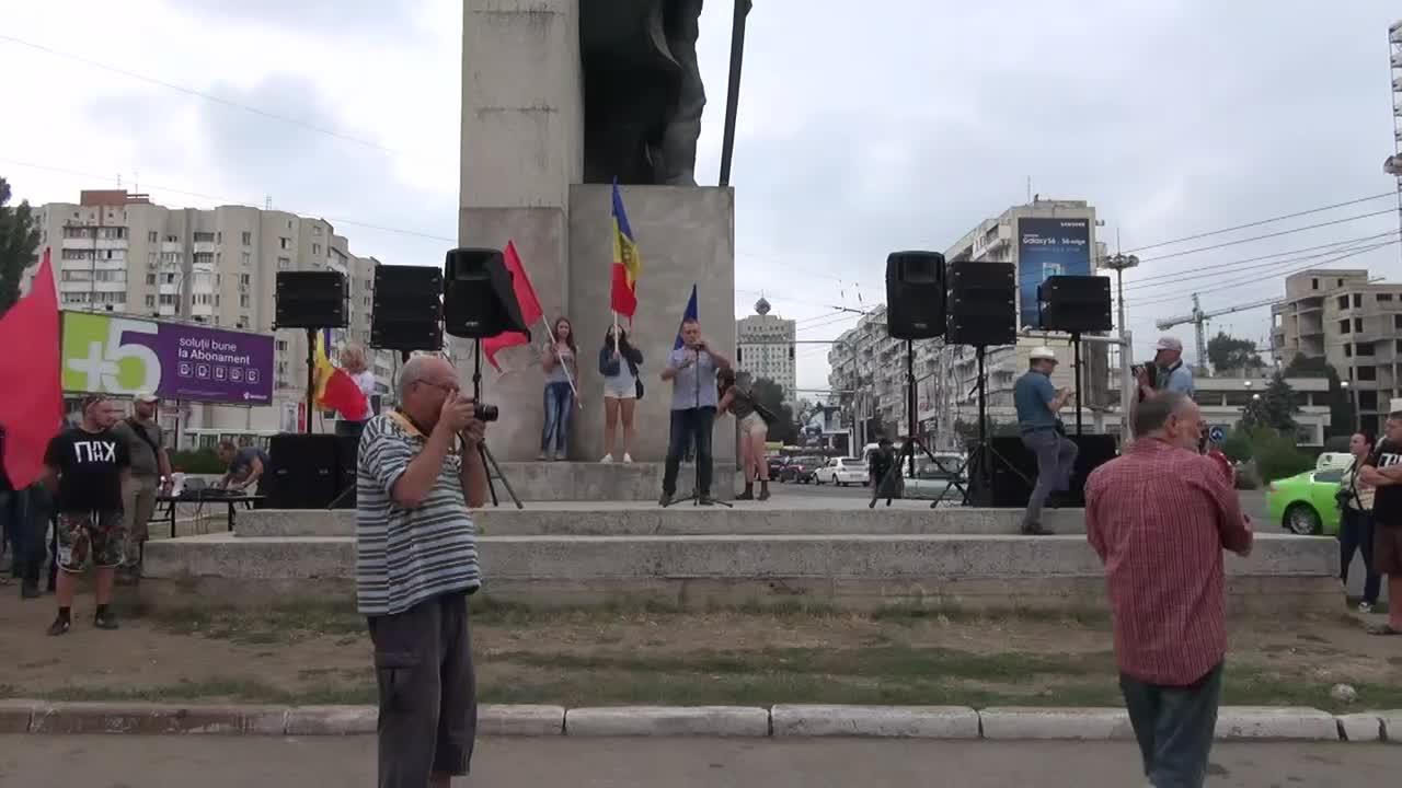 Mitingul si marsul de protest în cadrul Mobilizării Populare (Academia de Stiinte spre PMAN)