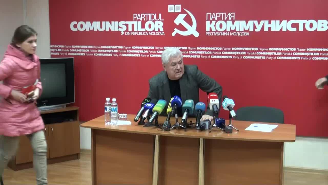 Conferință de presă susținută de președintele Partidului Comuniștilor din Republica Moldova, Vladimir Voronin