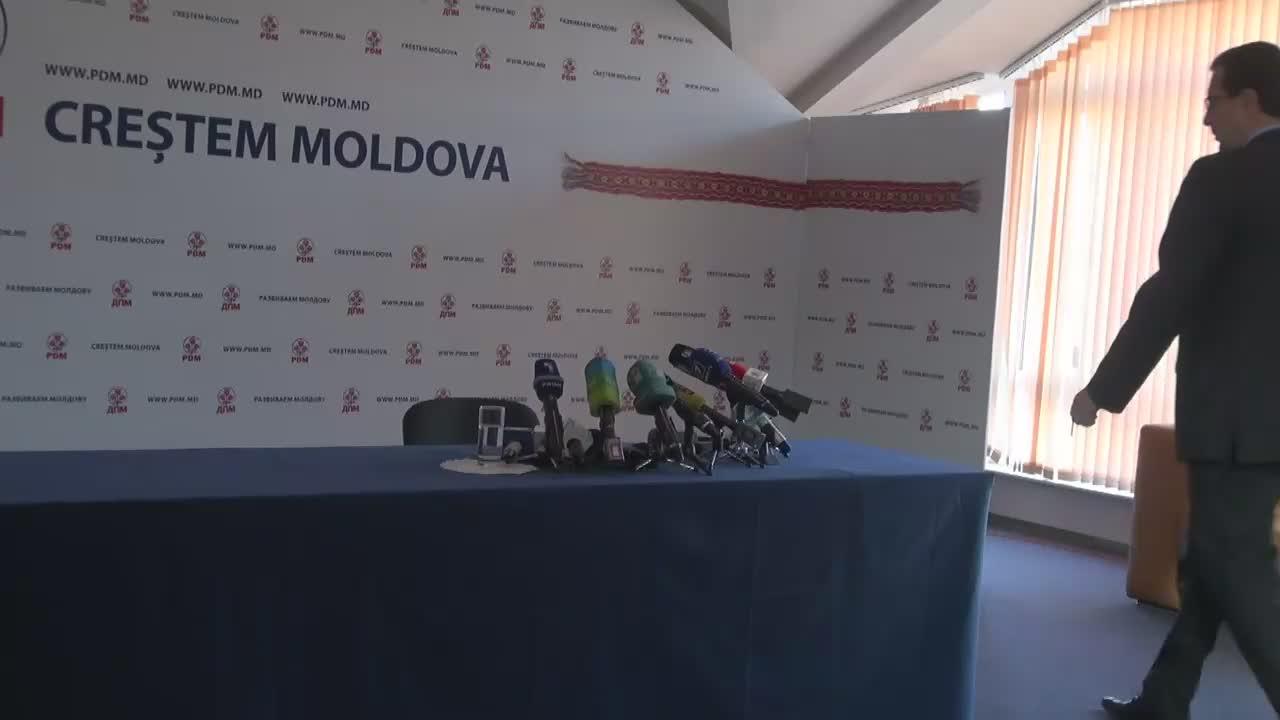 Conferință de presă susținută de președintele PDM, Marian Lupu, cu privire la subiectele de actualitate ale zilei