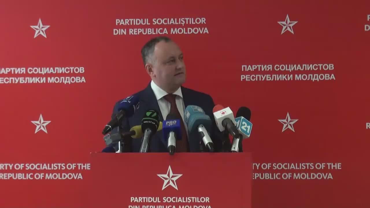 Conferință de presă susținută de președintele PSRM, Igor Dodon