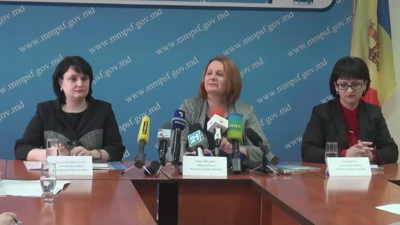 """Conferința de presă cu tema """"Prezentarea priorităților Ministerului Muncii, Protecției Sociale și Familiei pentru anul 2016"""""""