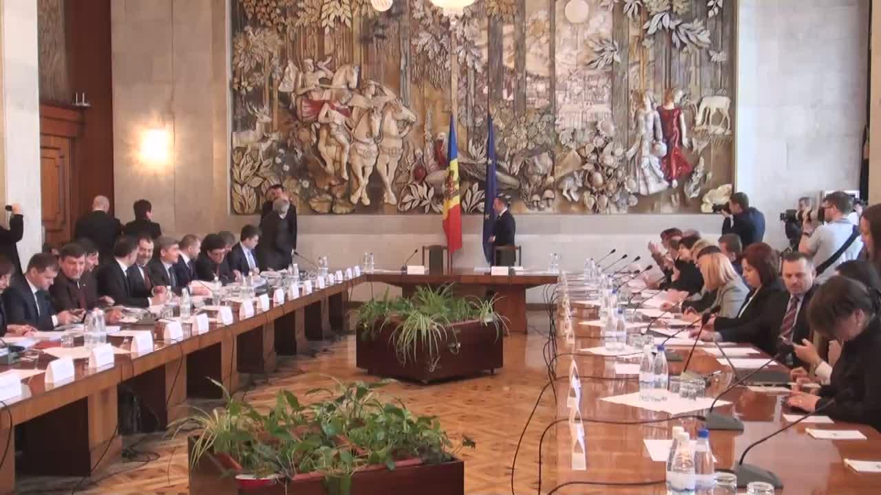 Ședința de lucru a membrilor Guvernului, conducerea Parlamentului și a comisiilor permanente