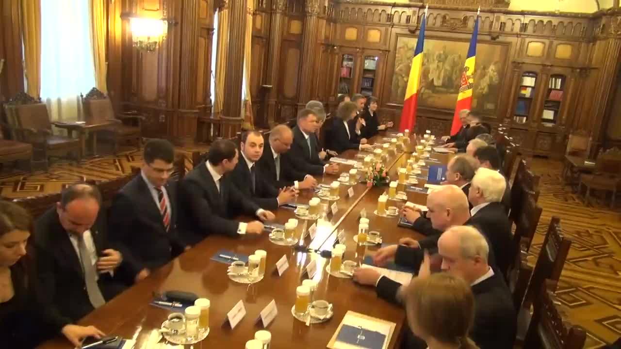 Întrevederea președintelui României, Klaus Iohannis, cu președintele Republicii Moldova, Nicolae Timofti