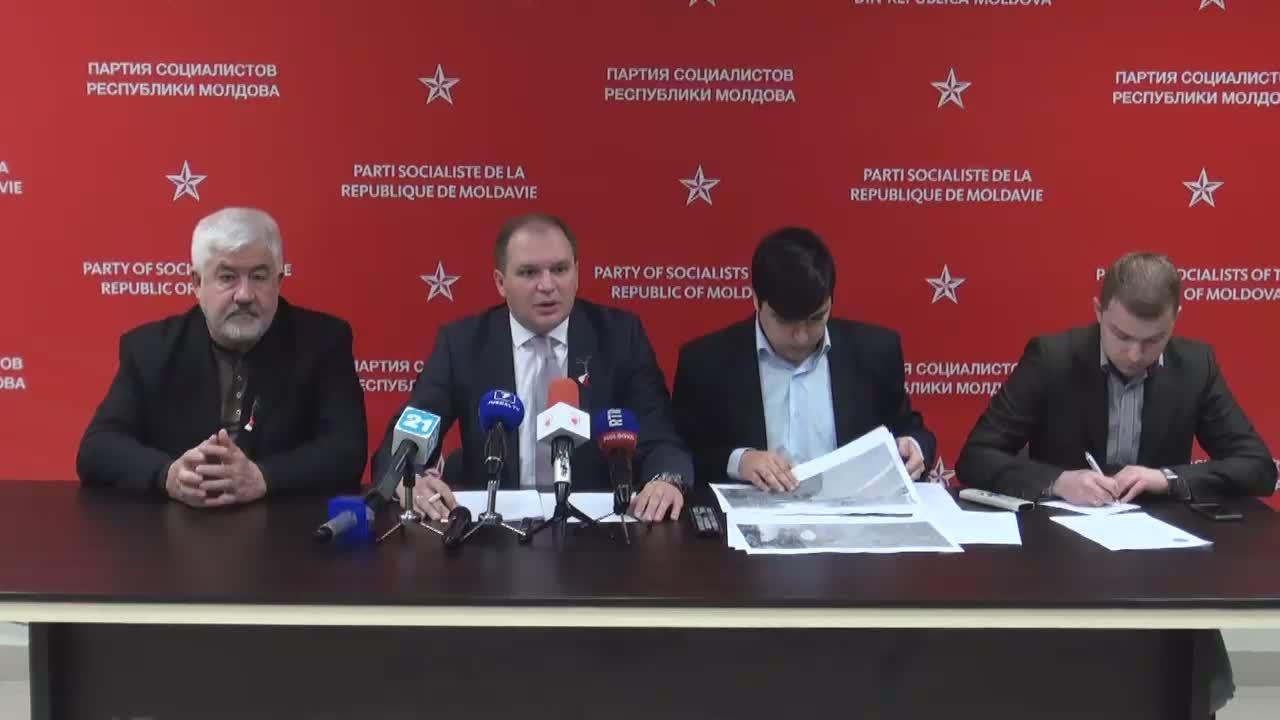 Conferință de presă susținută de consilierii municipali PSRM cu privire la situația privind cazul