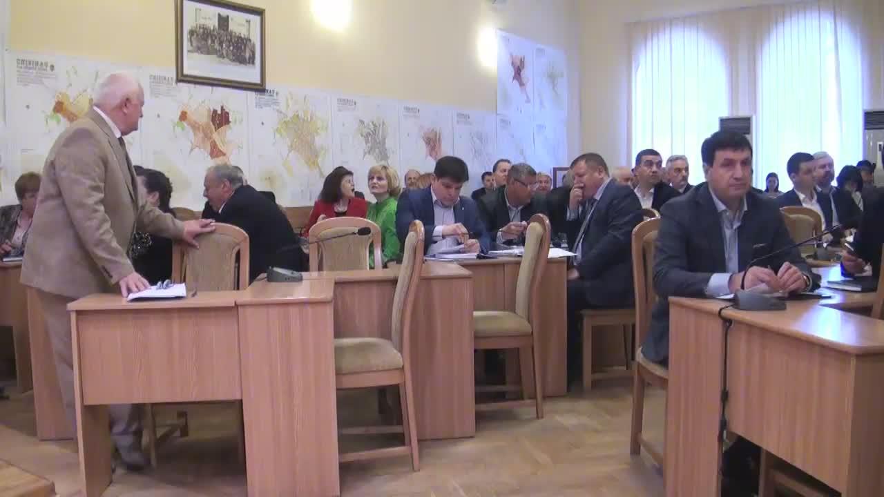 Ședința săptămânală a serviciilor primăriei Chișinău din 18 aprilie 2016