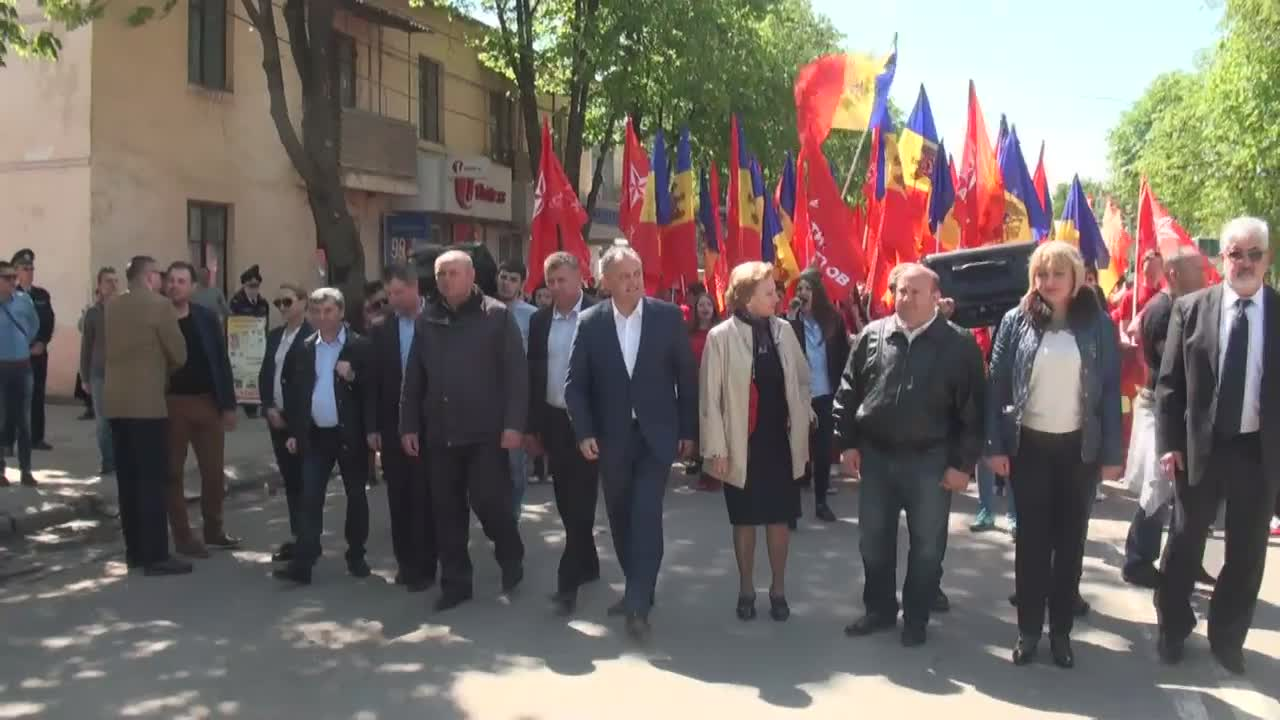 """Marșul """"Pentru Moldova"""" organizat de Partidul Socialiștilor din Republica Moldova la Ungheni"""