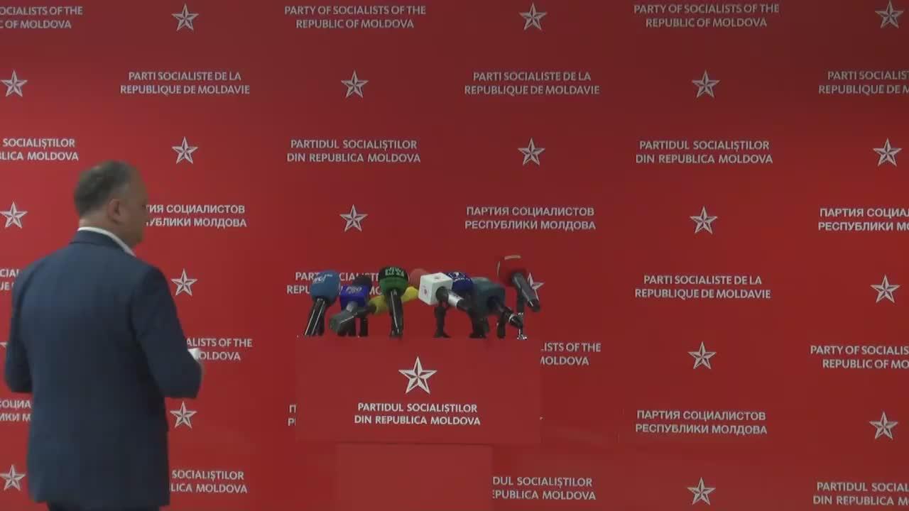 Briefing susținut de liderul Partidului Socialiștilor din Republica Moldova, Igor Dodon