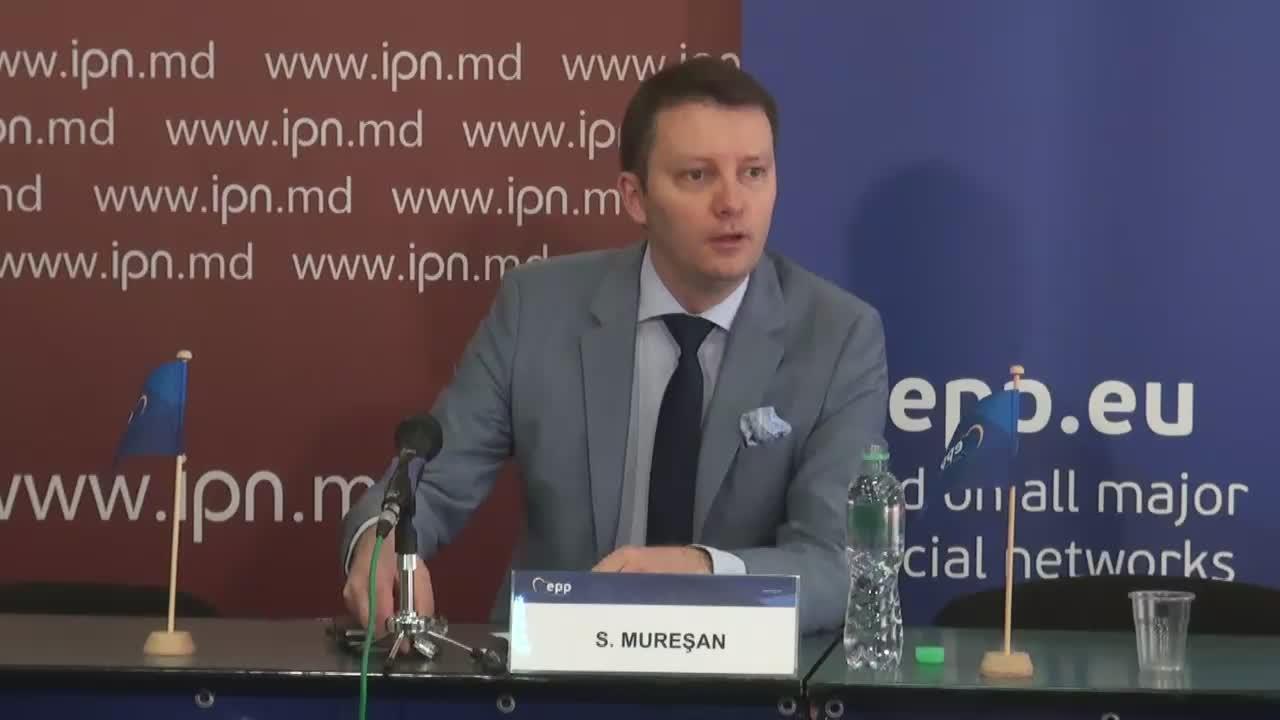 Conferință de presă susținută de purtătorul de cuvânt al PPE, europarlamentarul Siegfried Mureșan, de prezentare a concluziilor vizitei de lucru a delegației PPE la Chișinău