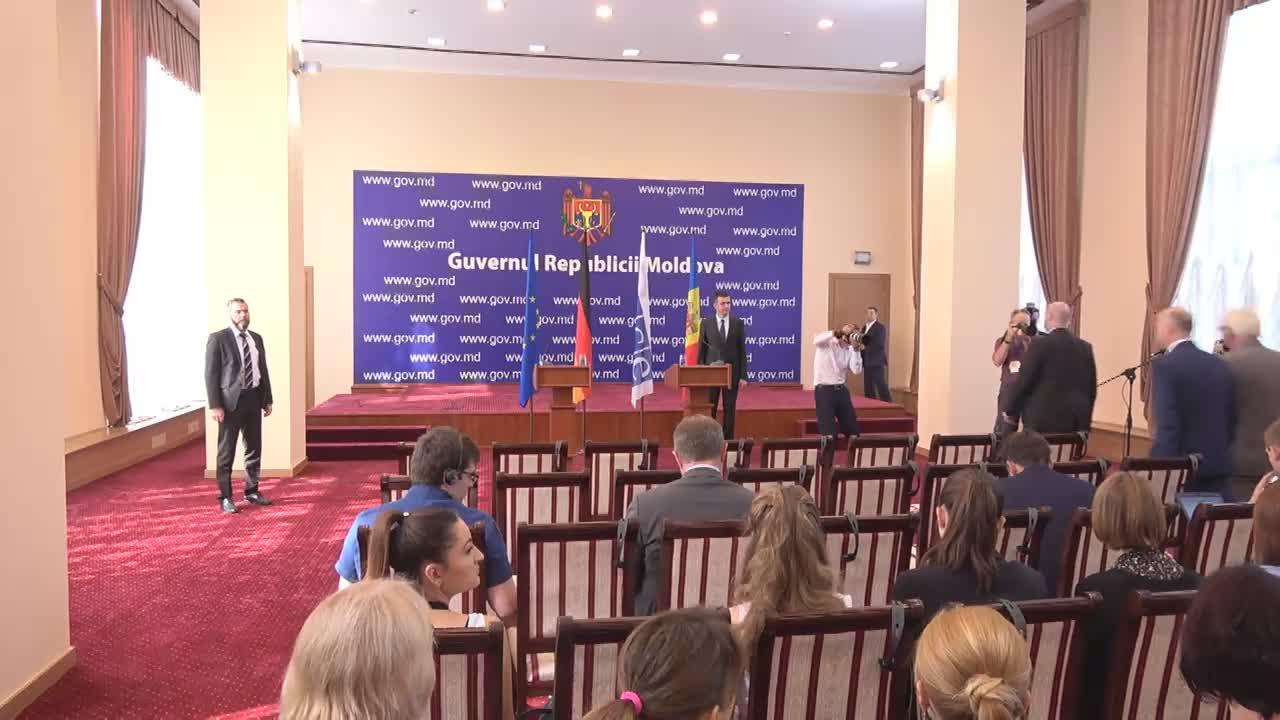 Briefing susținut de prim-ministrul Pavel Filip și ministrul Afacerilor Externe al Republicii Federale Germania, Frank-Walter Steinmeier, Președinte în exercițiu al OSCE