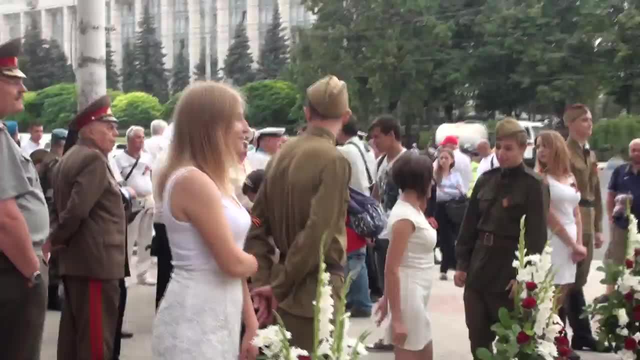 Marșul victoriei organizat de Partidul Socialiștilor din Republica Moldova cu prilejul aniversării a 72-a de la eliberarea Moldovei de ocupația fascistă
