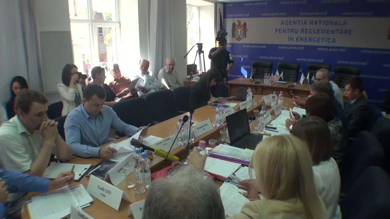 "Ședința ANRE de examinare a proiectuuil de aprobare a noilor tarife la energia termică livrata de SA ""Termoelectrica"""