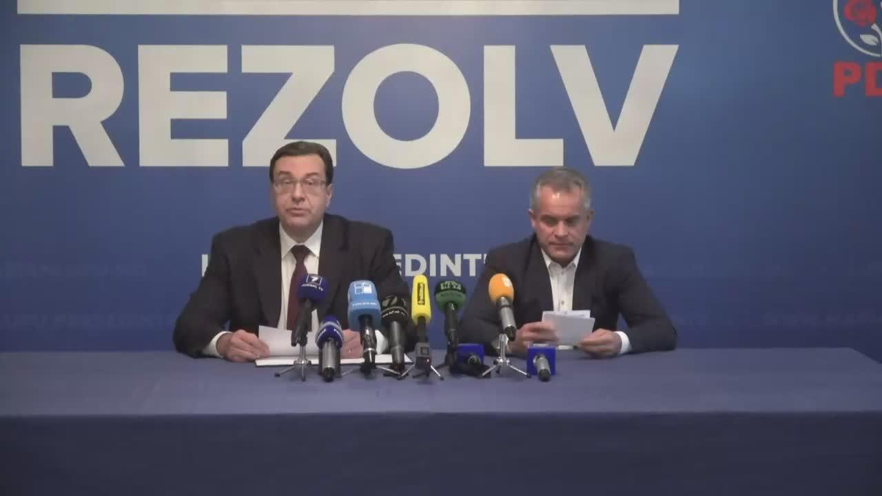 Briefing susținut de președintele Partidului Democrat din Moldova, Marian Lupu