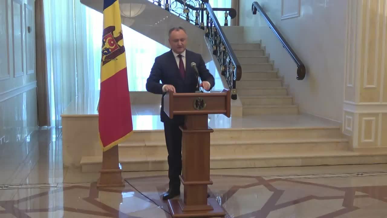Briefing de presă susținut de președintele Republicii Moldova, Igor Dodon, cu privire la rezultatele vizitei la Bruxelles
