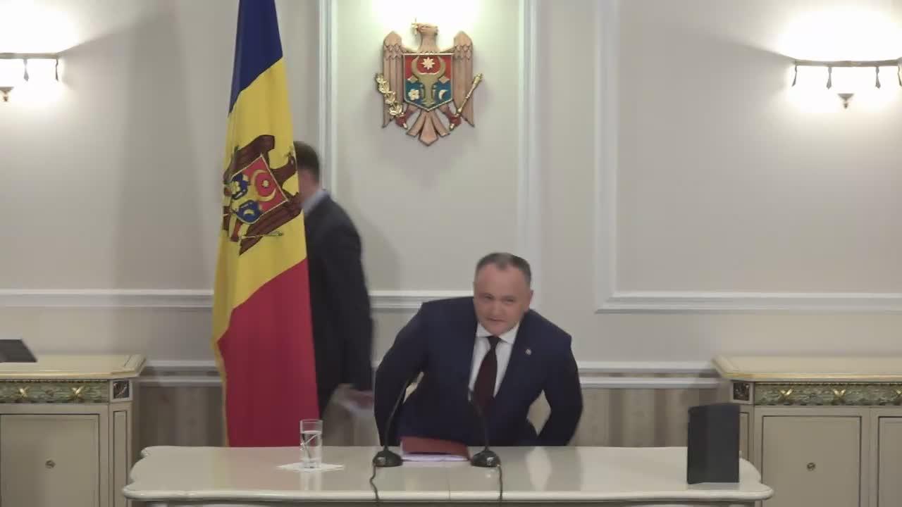 Președintele Republicii Moldova, Igor Dodon, prezintă raportul de activitate a 100 de zile de la investirea în funcție