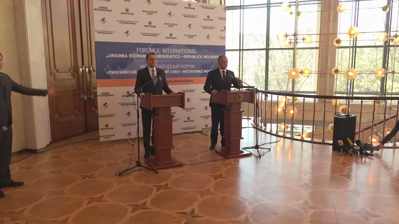 Declarații de presă susținute de Președintele Republicii Moldova, Igor Dodon, și Președintele Colegiului Comisiei Economice Eurasiatice, Tigran Sarkisyan