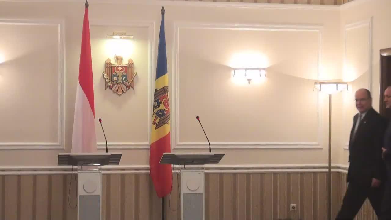 Briefing susținut de Președintele Republicii Moldova, Igor Dodon, și Prințul Principatului Monaco, Albert al II-lea