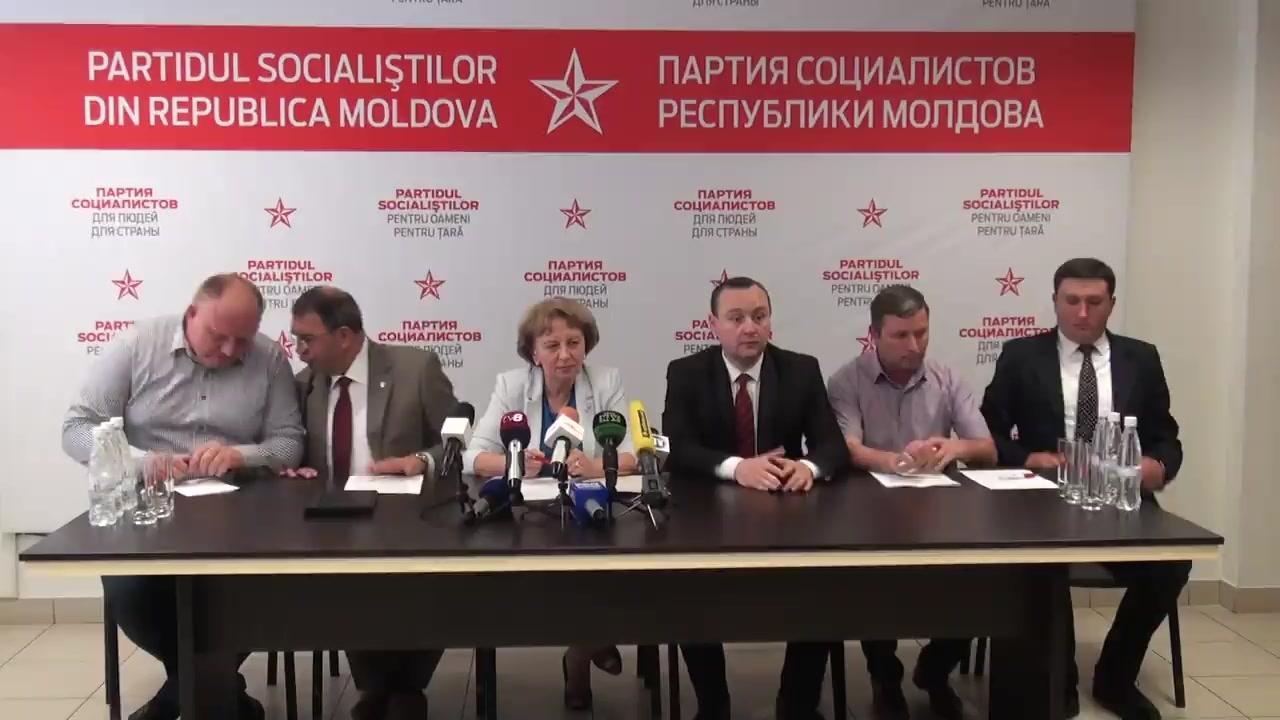 Conferință de presă susținută de Președintele Partidului Socialiștilor din Republica Moldova, Zinaida Greceanîi, privind rezultatele fracțiunii PSRM în cadrul sesiunii primăvară-vară a Parlamentului