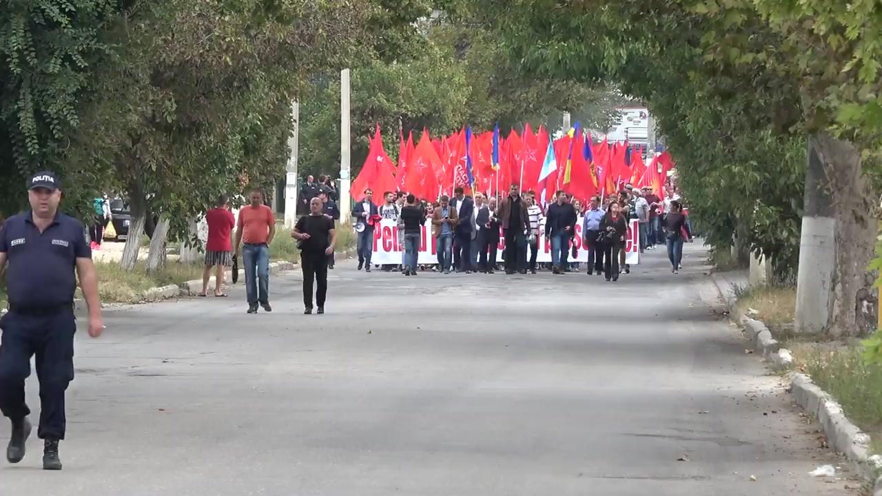 Protest organizat de Partidul Socialiștilor din Republica Moldova la Cahul