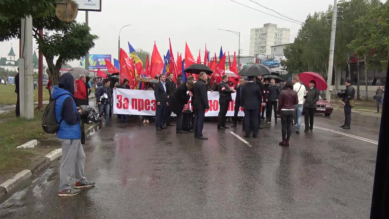 Protest organizat de Partidul Socialiștilor din Republica Moldova la Bălți
