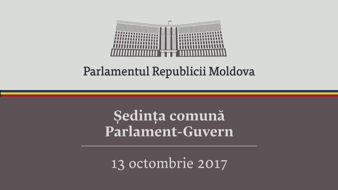 Ședința comună Parlament - Guvern