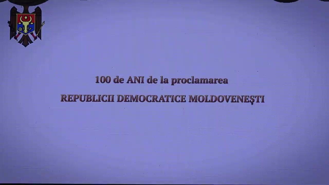 Adunarea festivă dedicată aniversarii a 100-a a proclamării Republicii Democratice Moldovenești