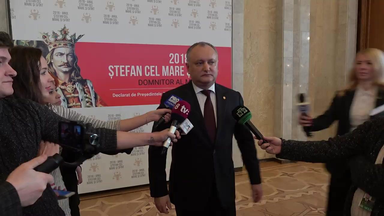 Declarația Președintelui Republicii Moldova, Igor Dodon, după lansarea Anului Ștefan cel Mare și Sfânt, Domnitor al Moldovei