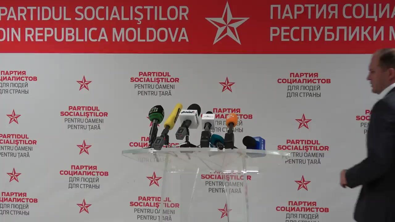 Briefing de presă susținut de candidatul PSRM la funcția de primar general al Chișinăului, Ion Ceban