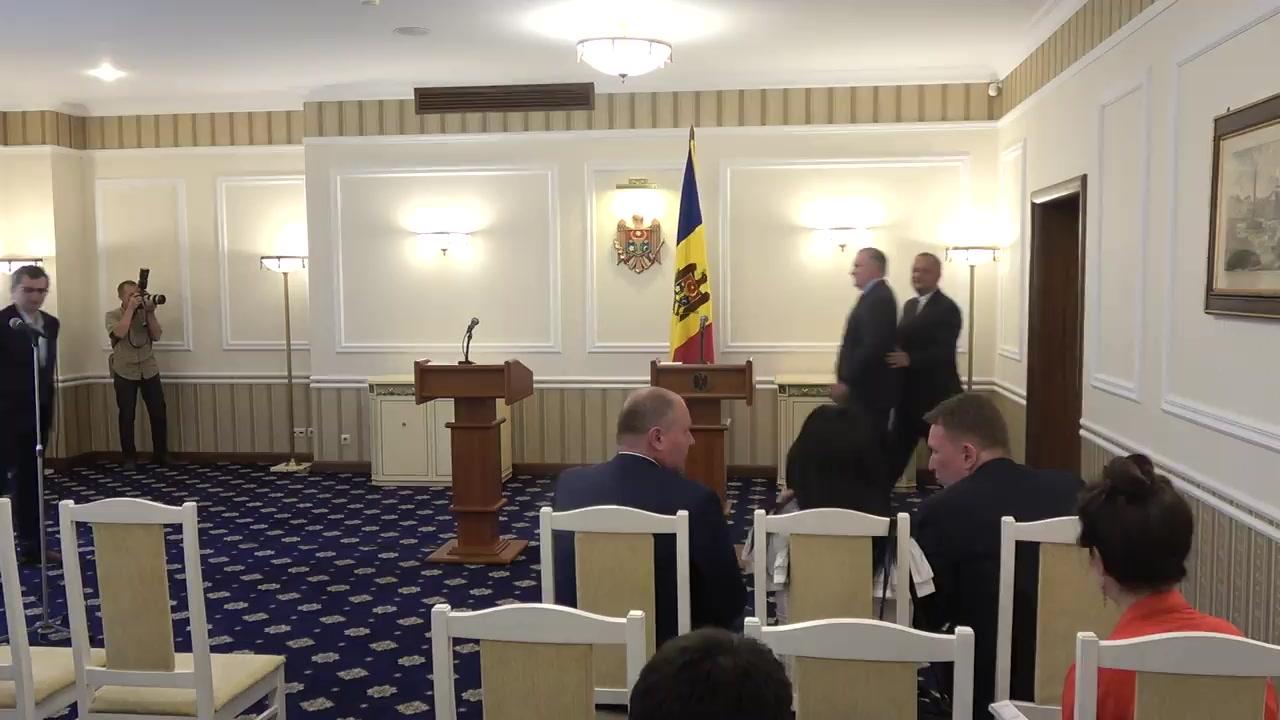 Conferință de presă susținută de Președintele Republicii Moldova, Igor Dodon, și Președintele Organizației Internaționale pentru Familie, Brian Brown