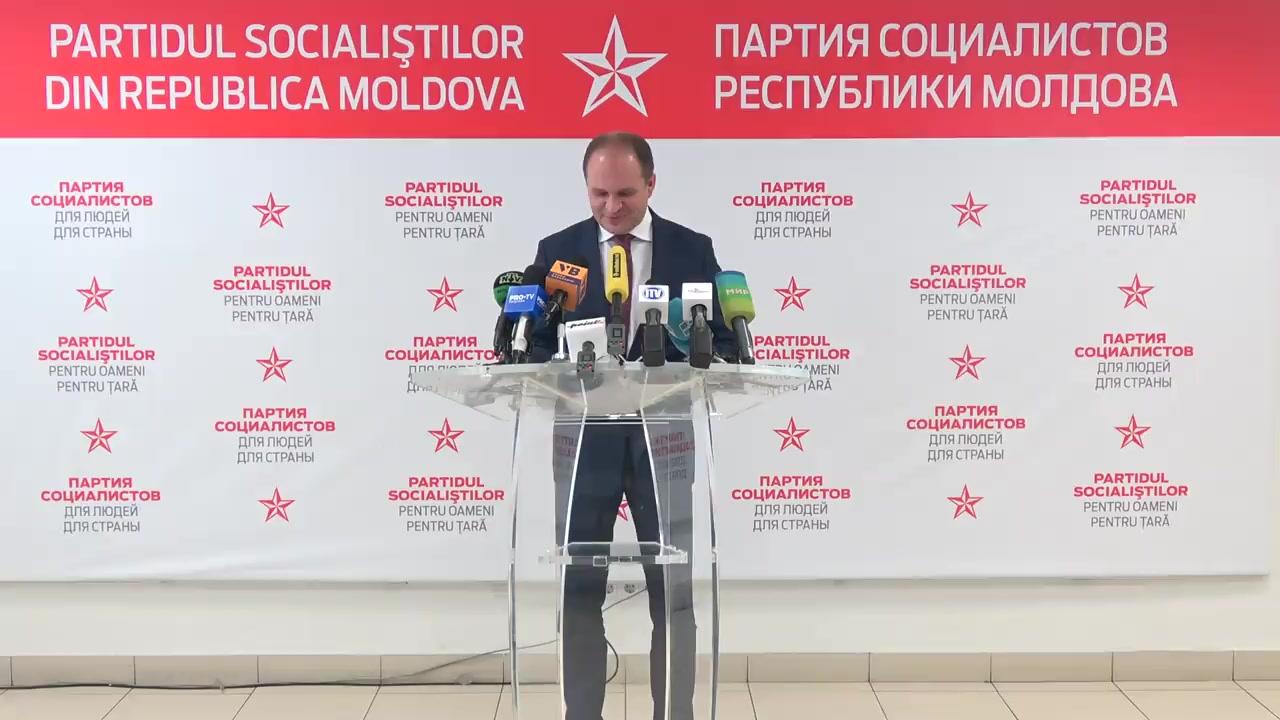 Conferința de presă susținută de liderul fracțiunii PSRM în CMC, Ion Ceban