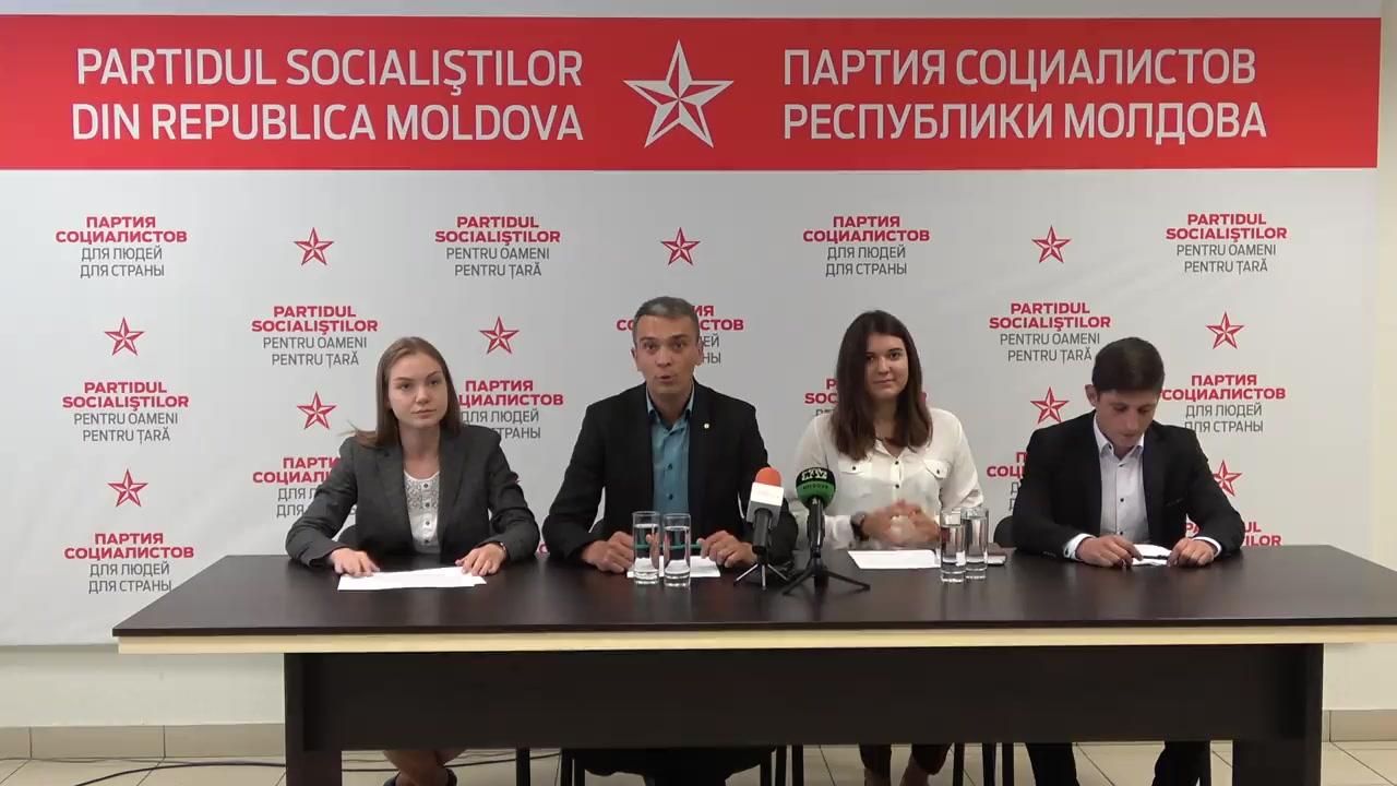 """Conferința de presă susținută de Garda Tînără a PSRM cu tema """"Condițiile inumale din căminele studențești"""""""