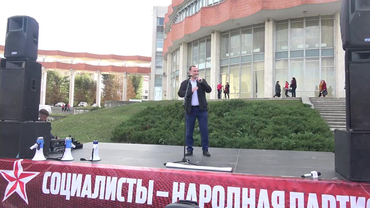 Prezentarea candidatului din partea Partidului Socialiștilor din Republica Moldova pentru circumscripția electorală nr. 29 (Chișinău, sectorul Rîșcani)