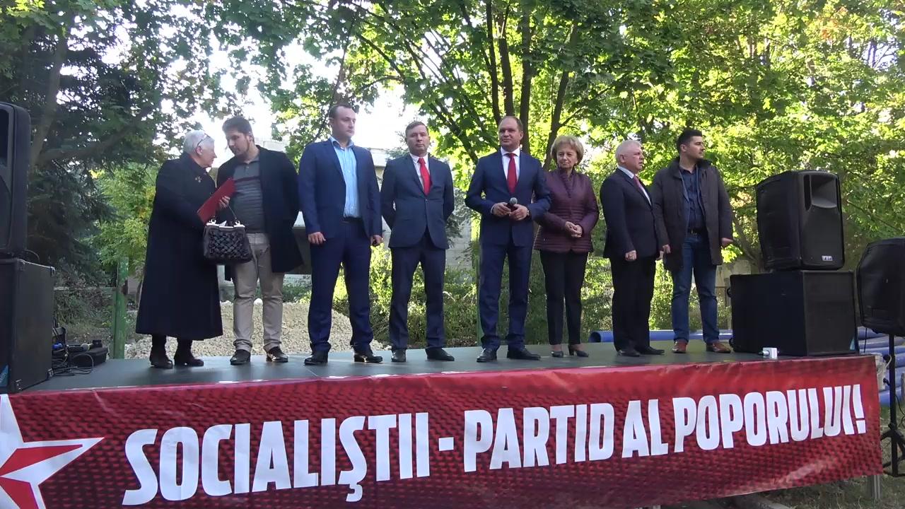 Prezentarea candidatului din partea Partidului Socialiștilor din Republica Moldova pentru circumscripția electorală nr. 27 (Chișinău, sectorul Buiucani)