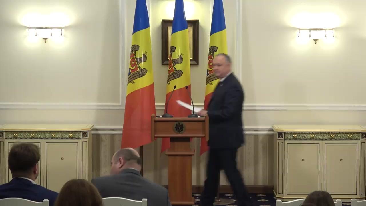 Conferință de presă susținută de Președintele Republicii Moldova, Igor Dodon, privind bilanțul vizitei sale oficiale în Federația Rusă