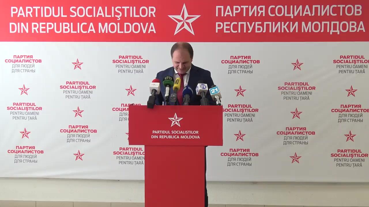 Conferință de presă susținută de către liderul fracțiunii PSRM din CMC, Ion Ceban