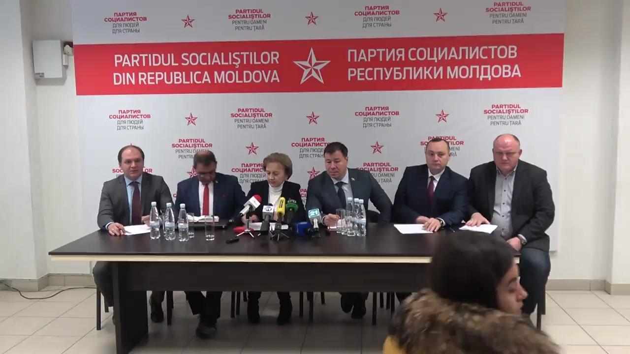 """Conferință de presă susținută de către Partidul Socialiștilor din Republica Moldova cu tema """"10 obiective prioritare ale Partidului Socialiștilor - cum vom realiza toate acestea"""""""